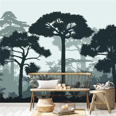 papier peint adhesif panoramique arbres le reve