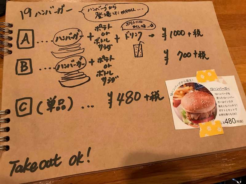 Cafe&Bar19(ジューク)のメニュー