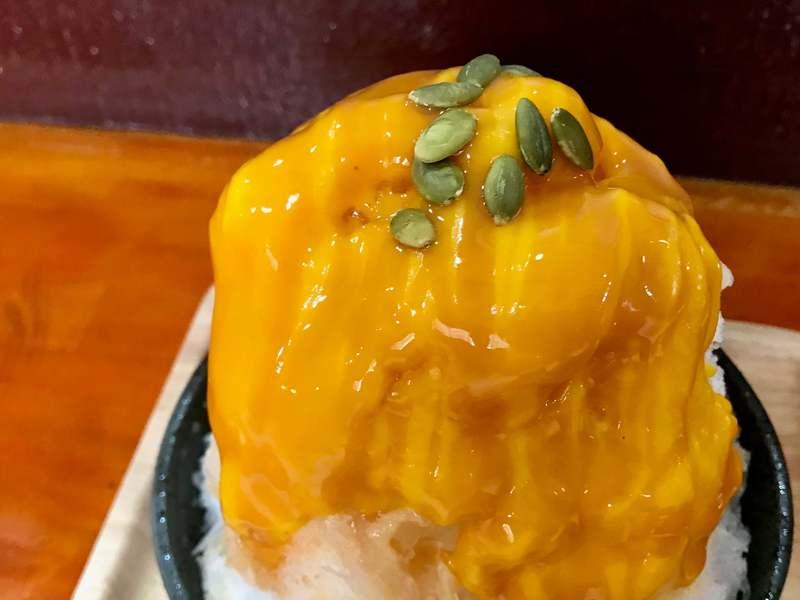 釣兵丸のかぼちゃかき氷