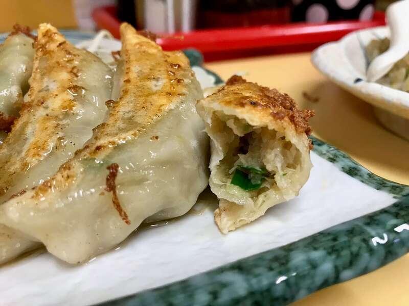 中華料理華楽の餃子の餡