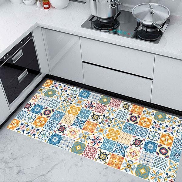 sticker for floor vintage tiles