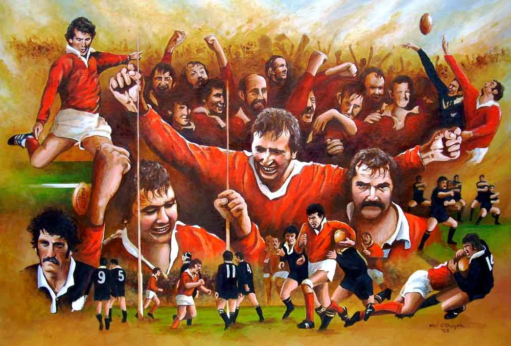 Munster Rugby V All Blacks 1978 Fully Signed Very Rare Art Sports Print