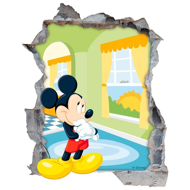 stickers muraux disney mickey mouse 3d