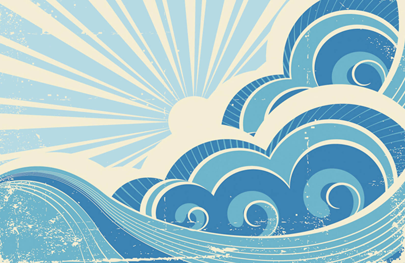 Retro Surf Wallpaper Wall Mural