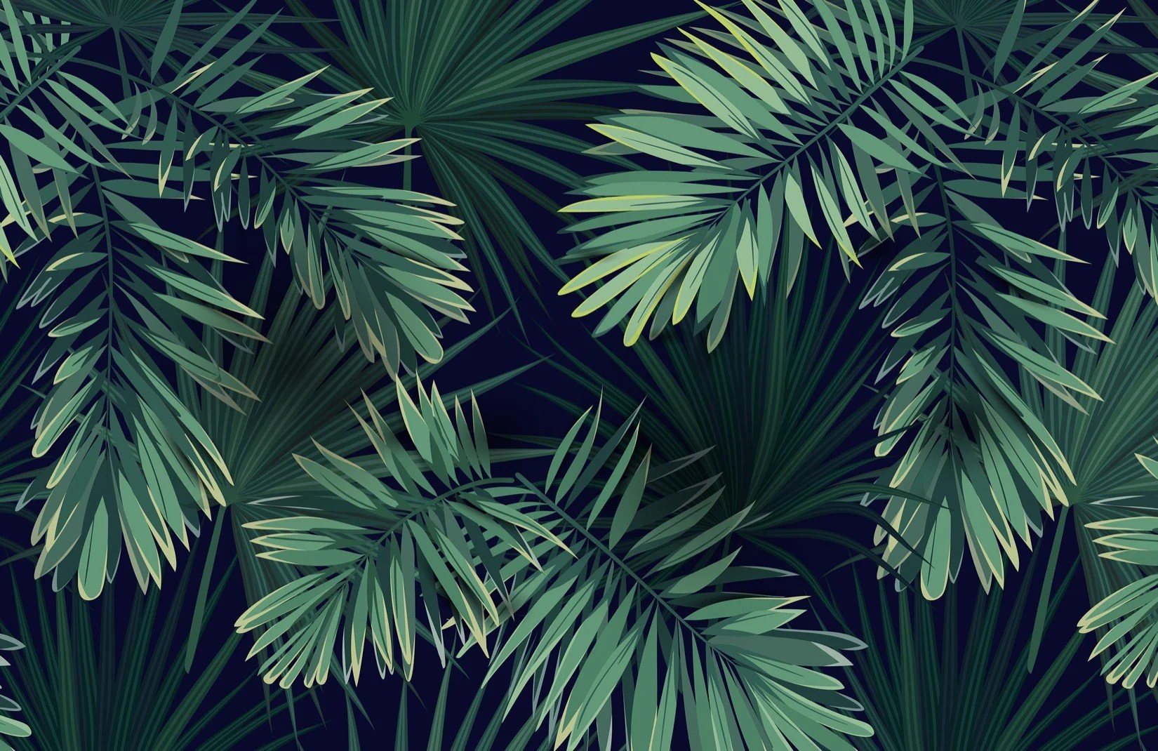 Tropical Green Plant Wallpaper Mural Murals Wallpaper
