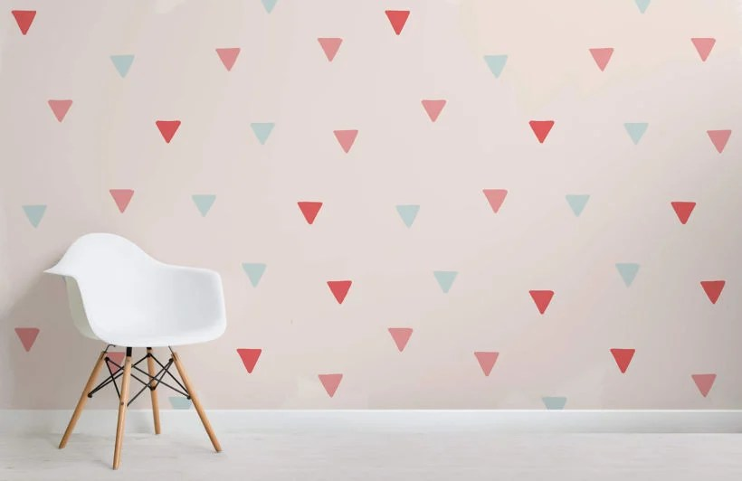 Soft Color Triangles Wallpaper Mural Murals Wallpaper