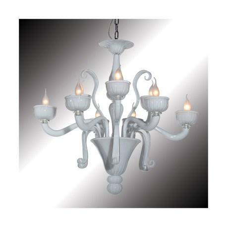 Nuvola 9 Lights White Murano Glass Chandelier