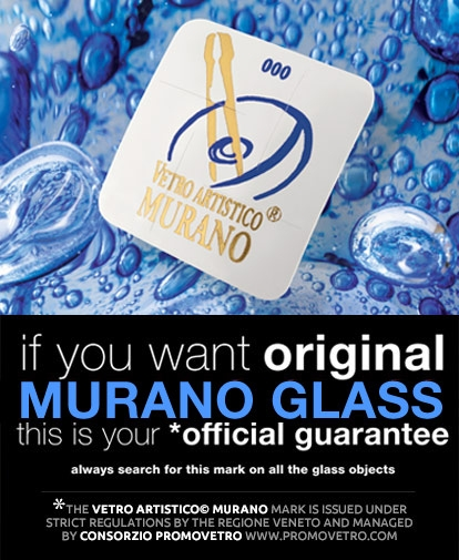 the official trademark image of Murano glass