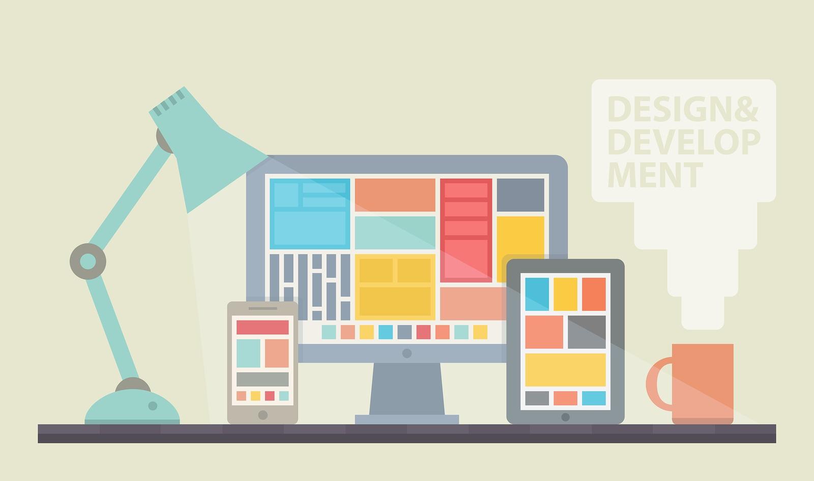 Web Design Development Illustration