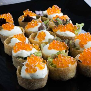 Kaviar snacks med mascarpone
