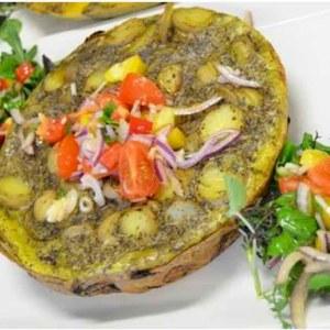 Tortillas,omelett med potet,egg,løk