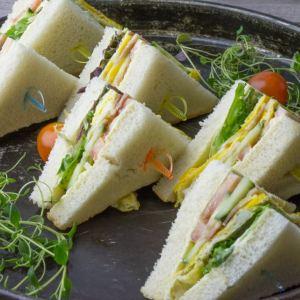 Mini club sandwich bacon,egg