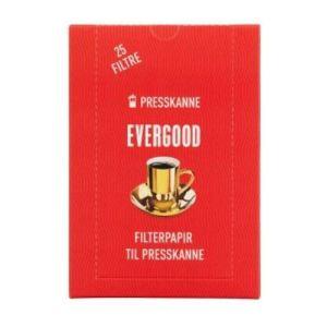 EVERGOOD Kaffe filterpapir til presskanne 25 stk
