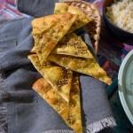 Manoush brød med zaatardip