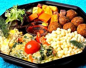 Vegan salat stor