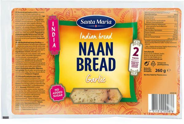 NAAN BREAD GARLIC 260G ST.MARIA