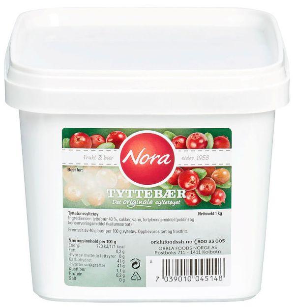 Nora Tyttebærsyltetøy 1 kg
