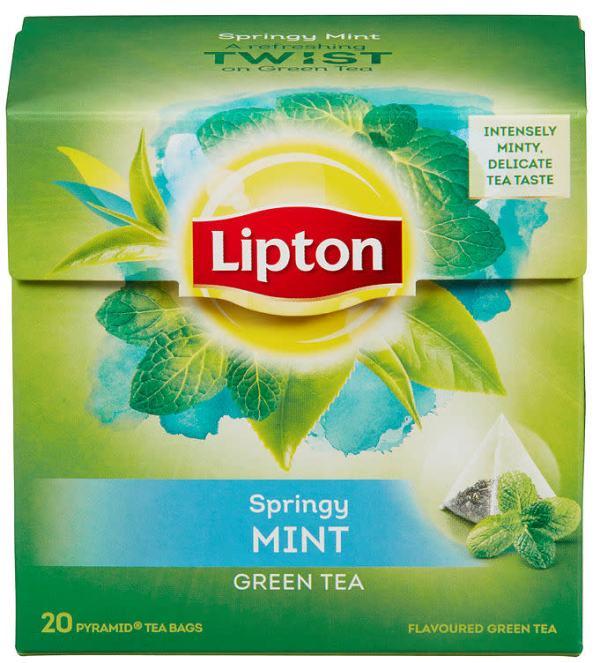 GREEN TEA MINT PYRAMIDE LIPTON 20pos