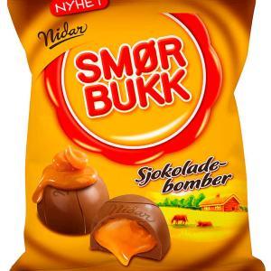 SMØRBUKK SJOKOLADEBOMBER 168G NIDAR
