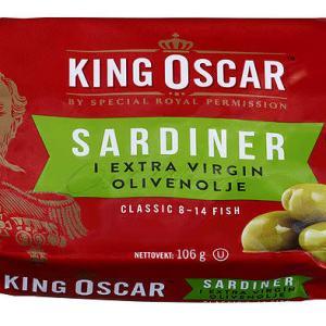 SARDINER I OLJE 106G KING OSCAR