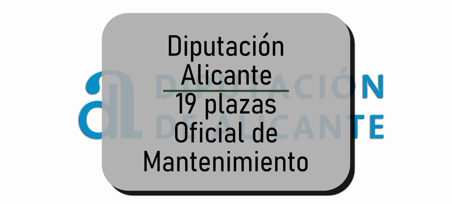 Alicante Oficial de Mantenimiento