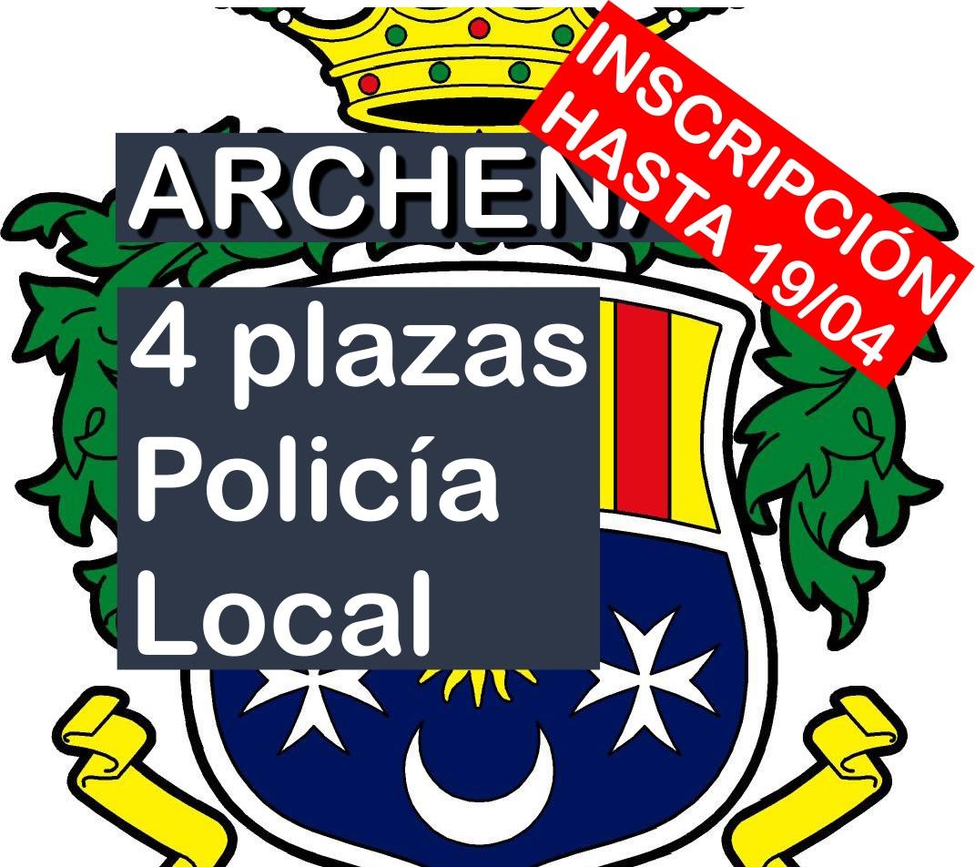 4 plazas Agente Policía Local de Archena