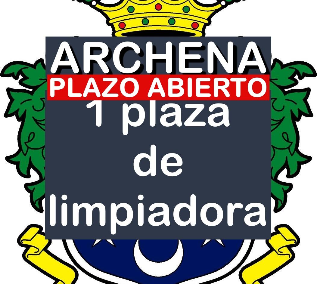 1 plaza Limpiadora de Archena