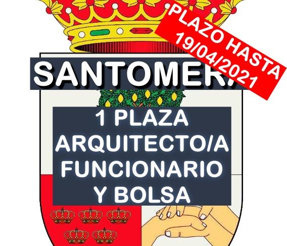 1 plaza de Arquitecto y bolsa en Santomera
