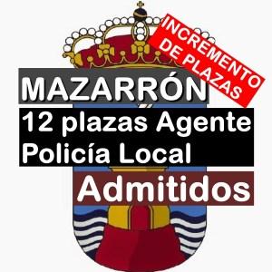 12 plazas Agente Policía Local en Mazarrón
