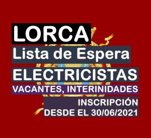 Lista de Espera de Electricista en Lorca