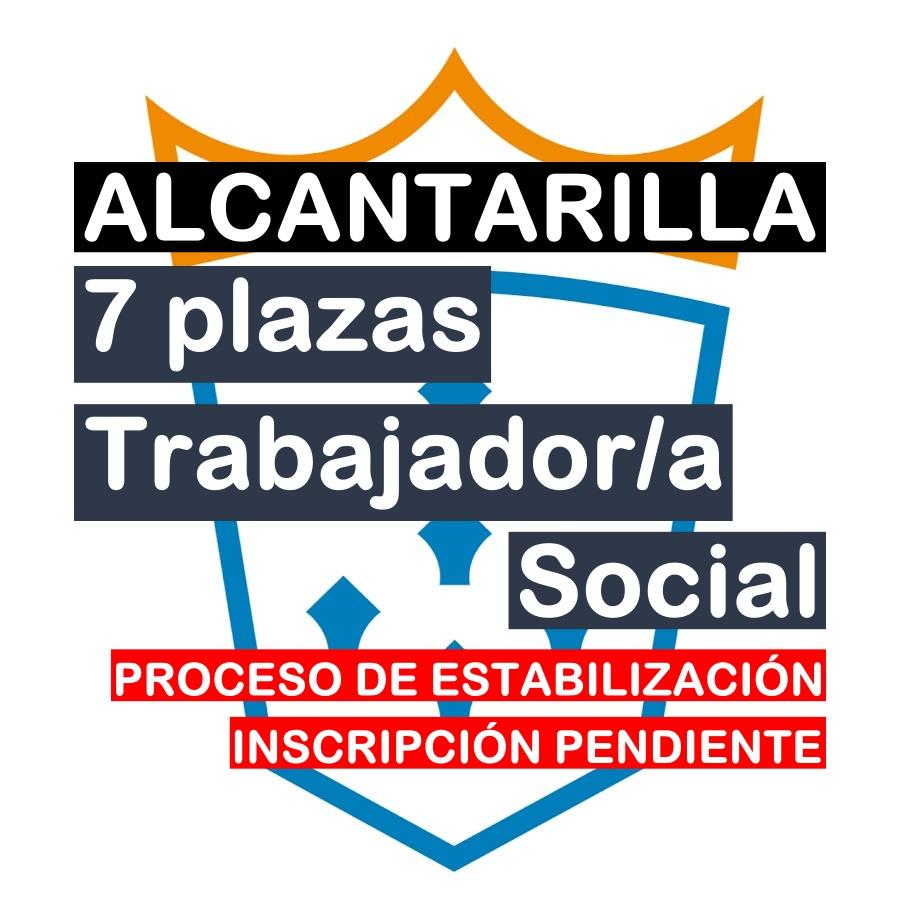 7 plazas Trabajador/a Social en Alcantarilla