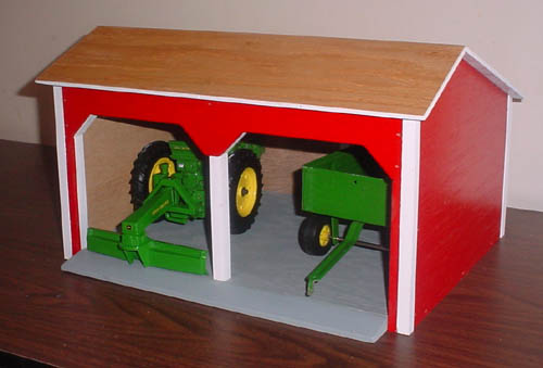 2-Bay Open Front Toy Pole Shed