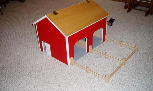The Meadow Toy Barn with optional fences