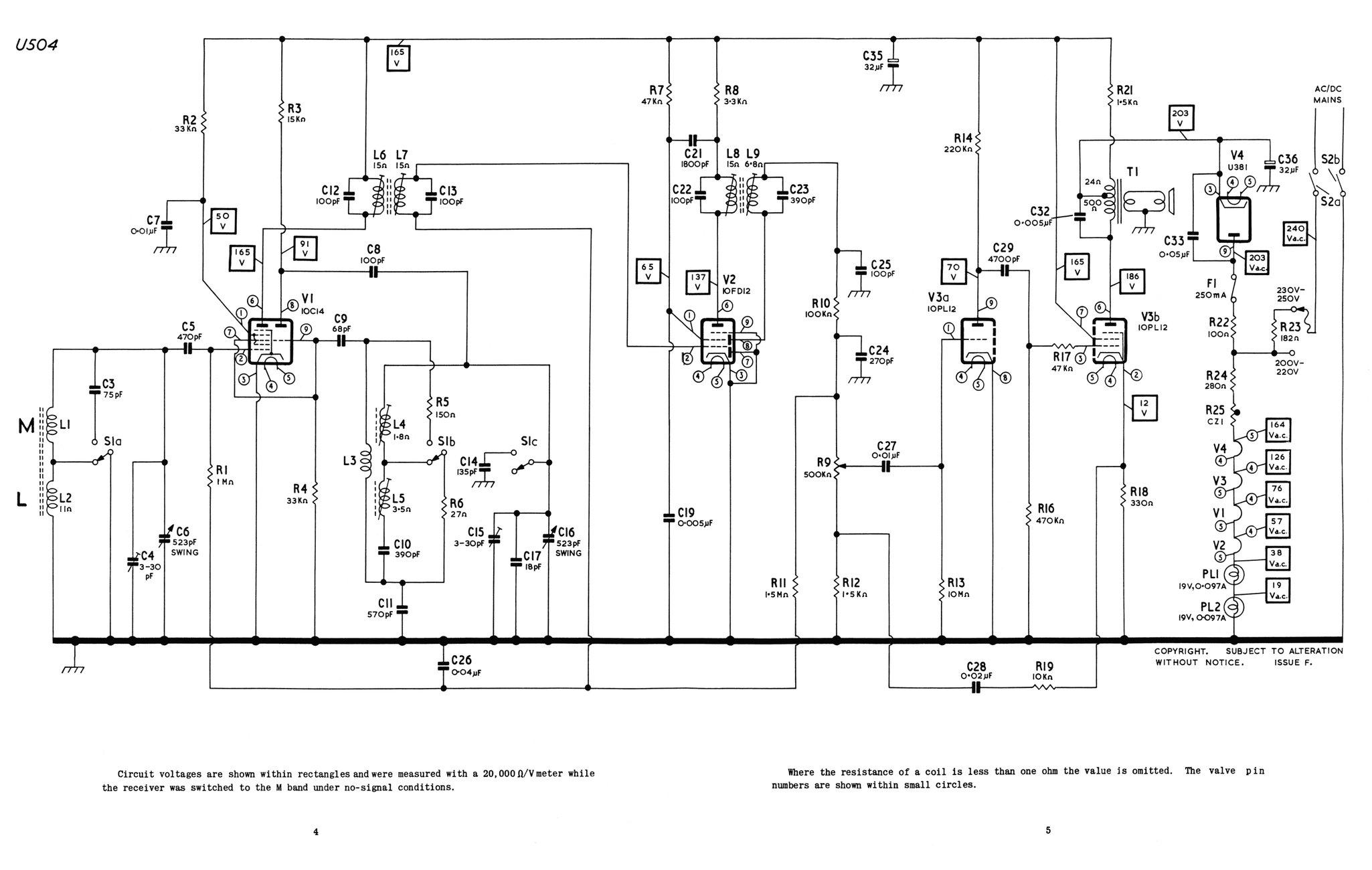 Schematics Shortwave Receiver Using Ech21 S Ecl21 And Ez2
