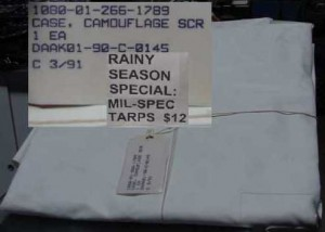 HEAVY DUTY TARPS LARGER THAN 5X5 FT. NEW COND. $12 EA. 10 FOR $95