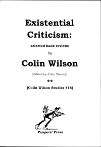 Existential Criticism by Colin Wilson
