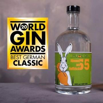 "Murre Gin Fünnefunfuffzich - World Gin Awards 2020 ""Best German Classic Gin"""