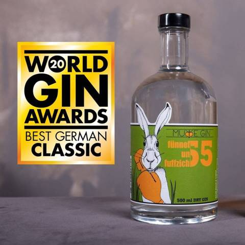 Word Gin Awards 2020 - Best German Classic Gin: Murre Gin Fünnefunfuffzich