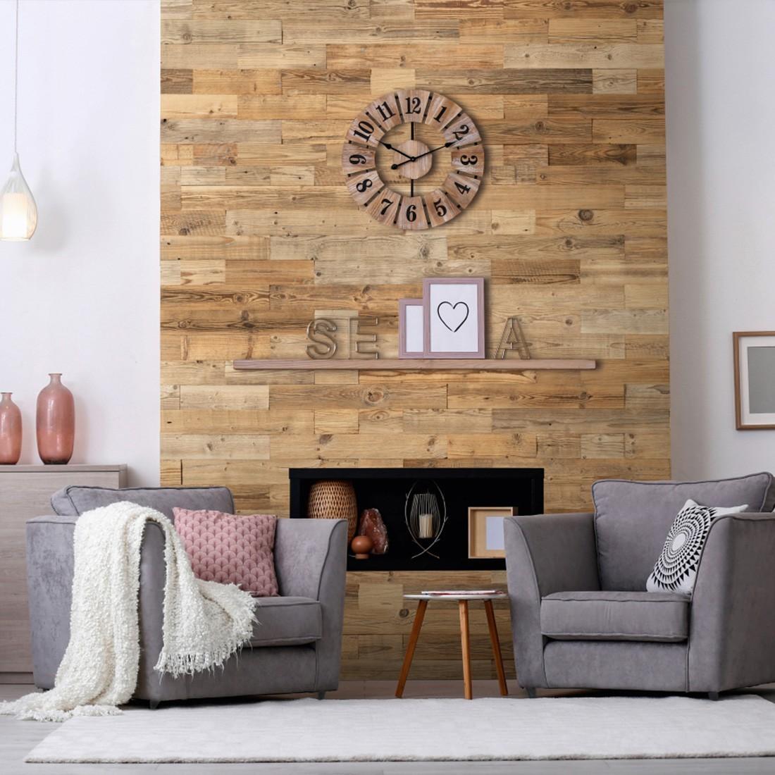 parement bois decoratif mur en bois interieur panneau mural bois