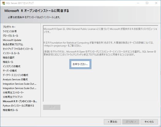 Microsoft R オープンのインストールに同意する