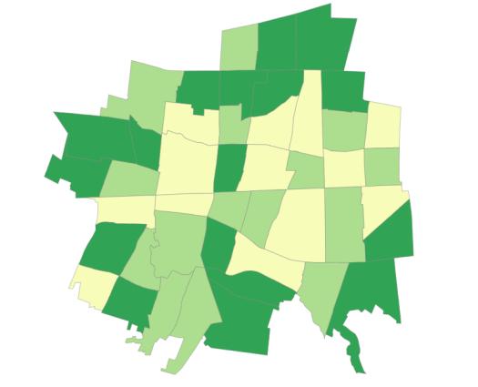 小金井市町名別分布図