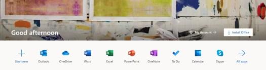 Microsoft 365 のインストール画面