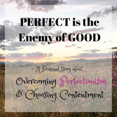 Perfect is the Enemy of Good: Overcoming Perfectionism