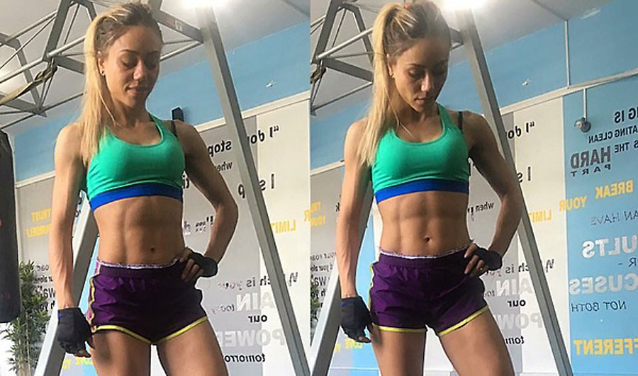 athletic fitness girl annyfitlove