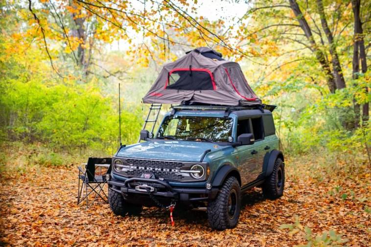 2021 Ford Bronco 4-Door Badlands Area 51 Overlander Concept Yakima Warn Sasquatch BFG KM3