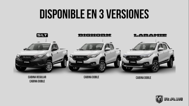 Ram 700 Trim levels for the Mexican Market.