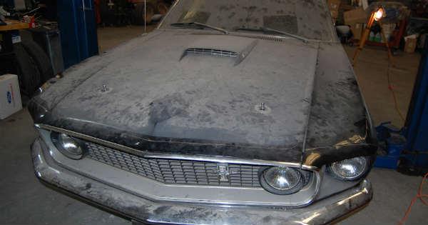 1969 Cobra Jet Mustang Barn Find 22