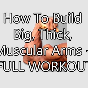 How To Build Big, Thick, Muscular Arms (the full workout)