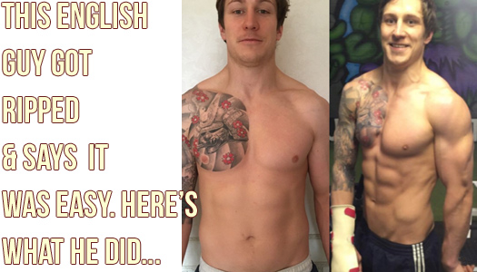 "29yr old English Guy Gets ""Cover Model"" Abs In 12 Weeks"