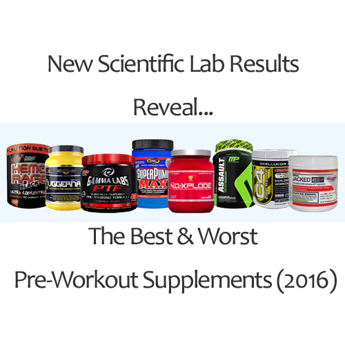 Scientific Lab Results Reveal The Best & Worst Pre-Workout Supplements